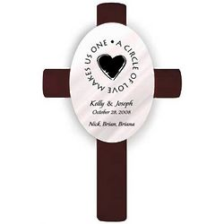 Personalized Second Marriage Oval Wedding Cross