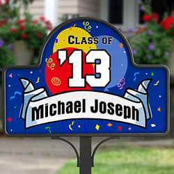 Personalized Graduation Magnetic Yard Stake with Magnet