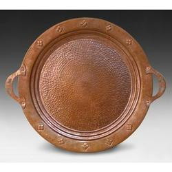 Hand Hammered Round Copper Tray