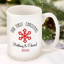 Our First Christmas Snowflake Mug