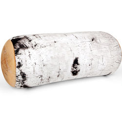 Birch Tree Log Pillow