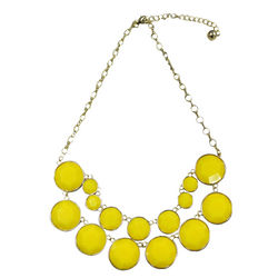 Yellow Double Layer Bubble Necklace