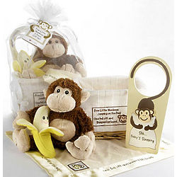 Five Little Monkeys 5-Piece Baby Gift Basket