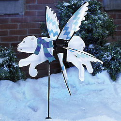 Polar Bear Winter Whirligig