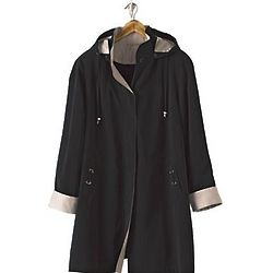 Faux Silk Plus Size Raincoat