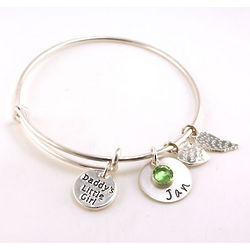 Daddys Little Girl Personalized Hand-Stamped Bangle Bracelet