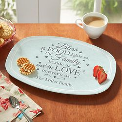 Personalized Bless This Food Platter