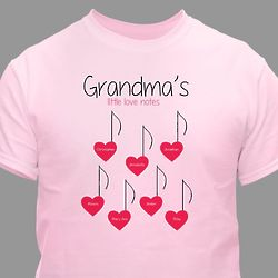 Grandma's Little Love Notes Personalized T-Shirt