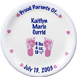 Personalized Girl's Birth Plate