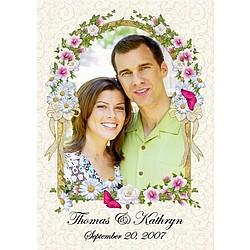 Personalized Wedding Frame Flag