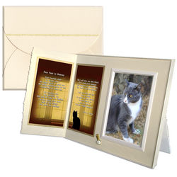 Four Feet in Heaven Cat Sympathy Picture Frame