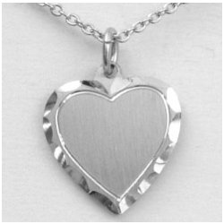 Engravable Heart Pewter Pendant