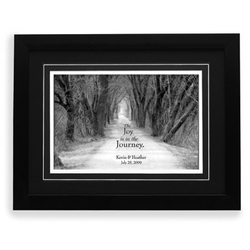 Personalized The Joy is the Journey Wedding Framed Print