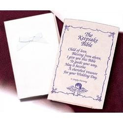 Baby's Satin Keepsake Bible