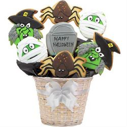 Scary Scary Halloween Cookie Bouquet