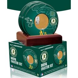 Oakland A's Coasters with Game Used Dirt