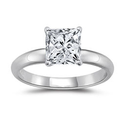 18k White Gold Princess Diamond Engagement Ring