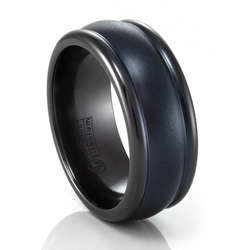 Black Titanium Tri-Domed Band