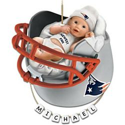 New England Patriots Personalized Baby's First Christmas Ornament