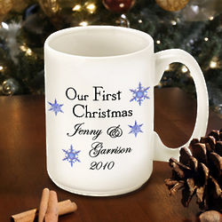 Our First Christmas Personalized Snowflake Mug