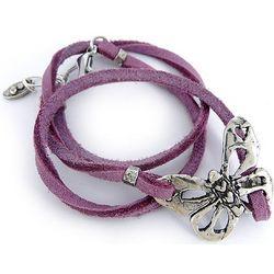Butterfly Leather Wrap Bracelet