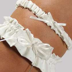 Crystal and Pearl Garter Set