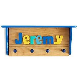 Personalized Name Puzzle Shelf Coat Rack