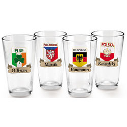 Czech Republic Pint Glasses