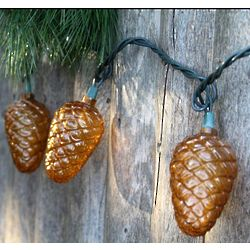 Festive Fall Pinecone Lights