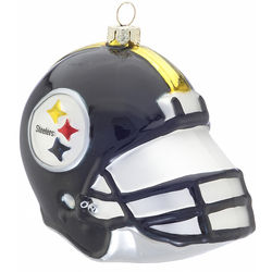 Personalized Pittsburgh Steelers Football Helmet Ornament