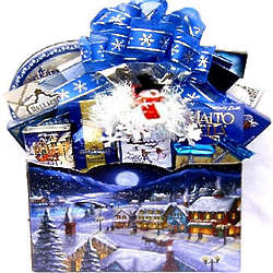 Christmas in the Village Holiday Gift Basket