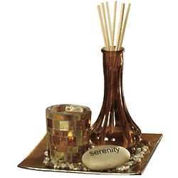 Serenity Elements Amber Glass Diffuser Garden