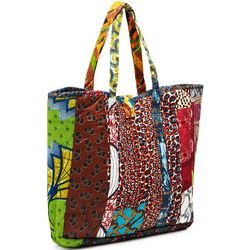 Patchwork Global Tote Bag
