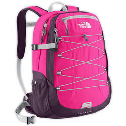 Azalea Pink and Dark Eggplant Purple Wom Borealis Backpack