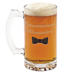 Personalized Bow Tie Beer Stein