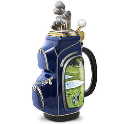 Personalized Golf Bag Shaped Porcelain Beer Stein