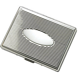 Personalized Single-Sided Silver Cigarette Case
