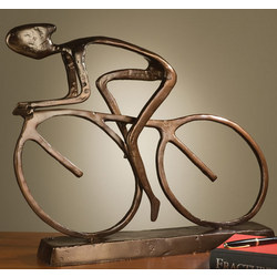 Large Cyclist Sculpture