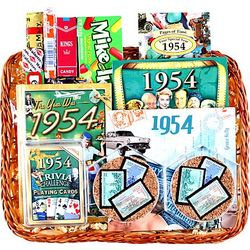 60th Birthday or Anniversary Gift Basket with Stamps