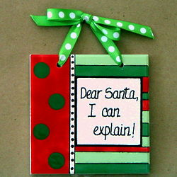 Dear Santa Christmas Tile Ornament