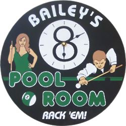 8 Ball Pool Room Personalized Wall Clock