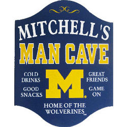 Personalized Michigan Wolverines Pub Sign