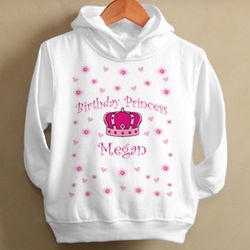 Girl's Birthday Princess Personalized Hoodie