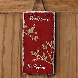 Personalized Sparrow Welcome Sign