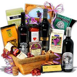 Silver Oak Showcase Wine and Snack Basket