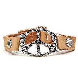 Lucky Brand Peace Leather Bracelet
