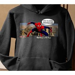 Personalized Spiderman Sweatshirts