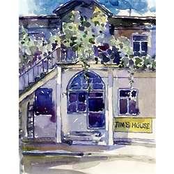 The Loft Watercolor Personalized Art Print