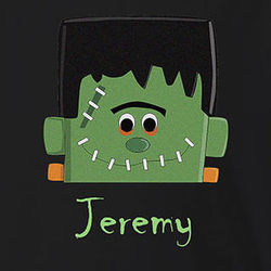 Boy's Personalized Frankenstein Halloween T-Shirt