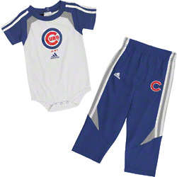 Chicago Cubs Infant Adidas Creeper and Pant Set